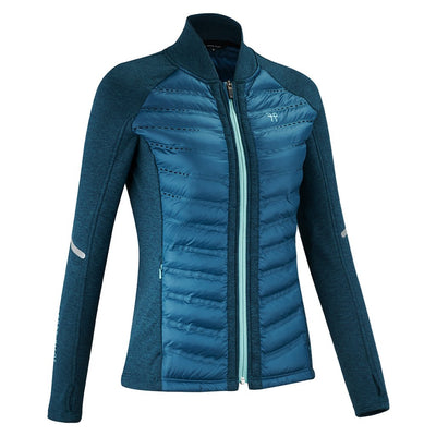 Horse Pilot Women's Storm Quilted Jacket Teal Front