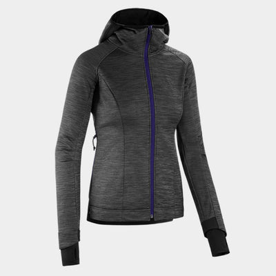 Horse Pilot Women's Tempest Fleece Jacket Grey Front
