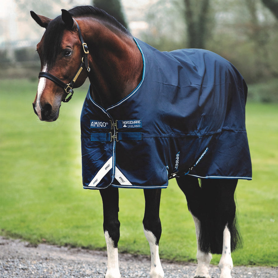 Horseware Amigo Bravo 12 Original Lite Turnout Sheet Navy with White