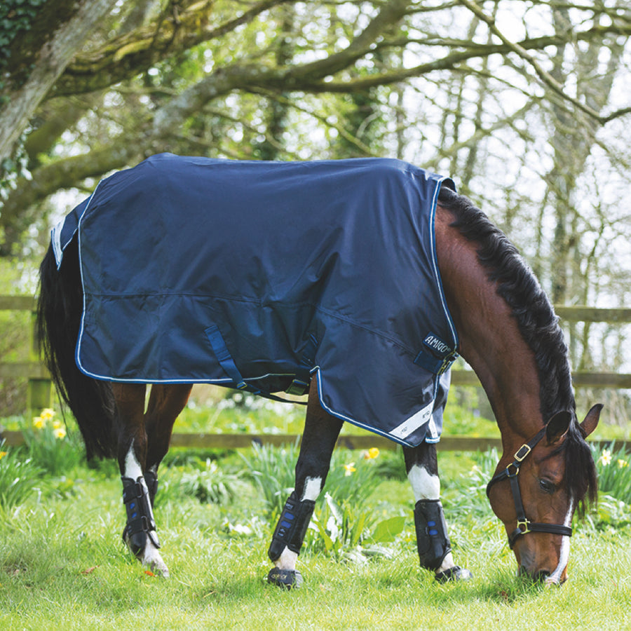Horseware Amigo Bravo 12 Original Pony Lite Turnout Sheet Navy with White