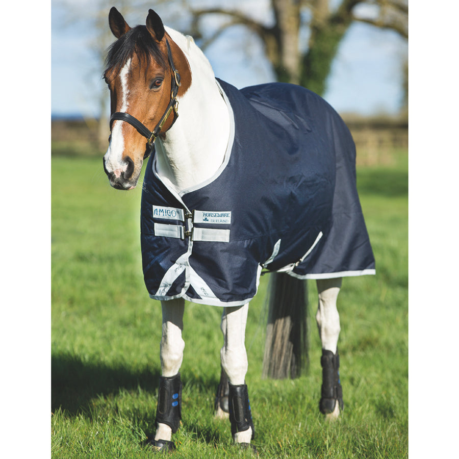 Horseware Amigo Bravo 12 Original Pony Medium Turnout Blanket Navy with Silver