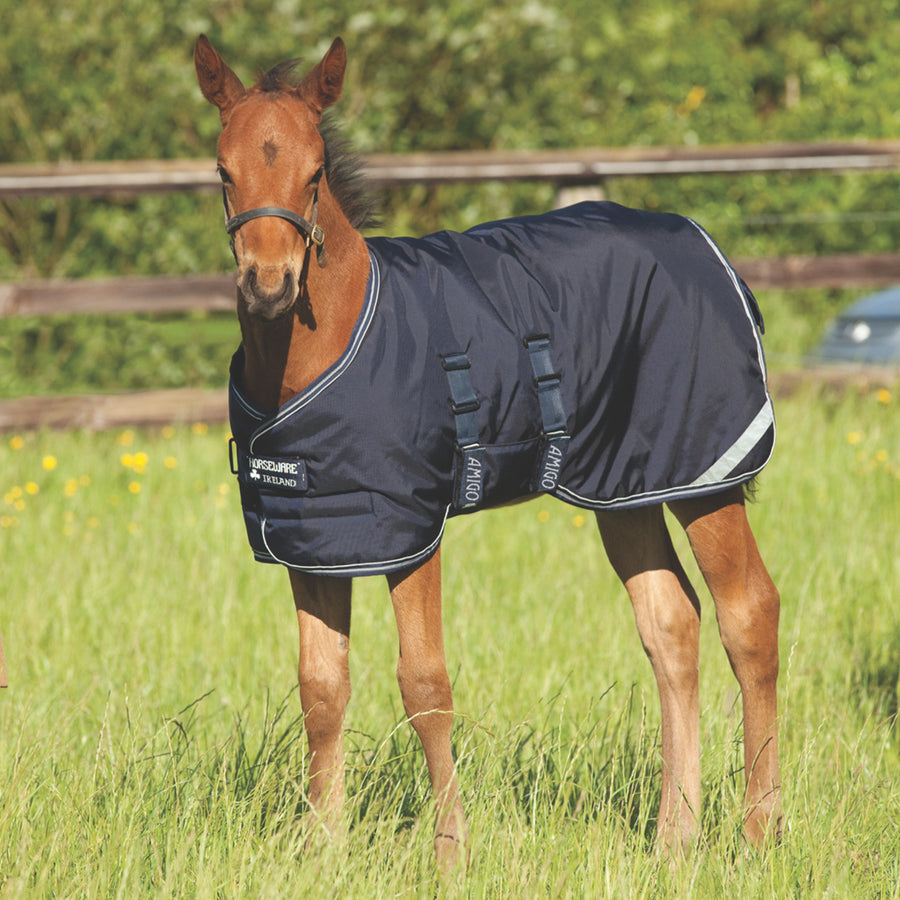 Horseware Amigo Foal Turnout Blanket Navy with Silver
