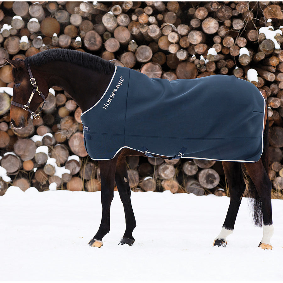 Horseware Rambo Airmax Cooler Sheet Navy with Beige
