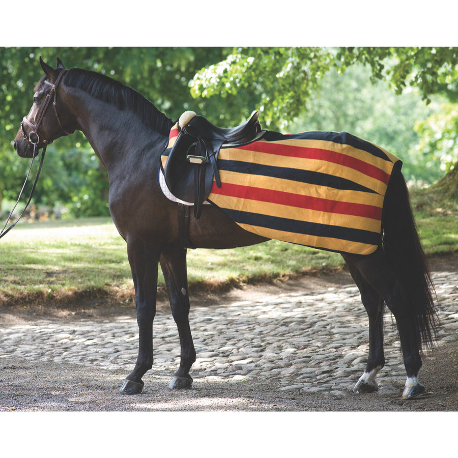 Horseware Rambo Fleece Competition Quarter Sheet Whitney Stripe Gold