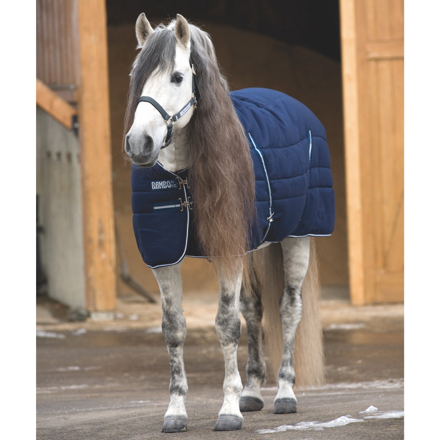 Horseware Rambo Medium Stable Blanket Navy with White