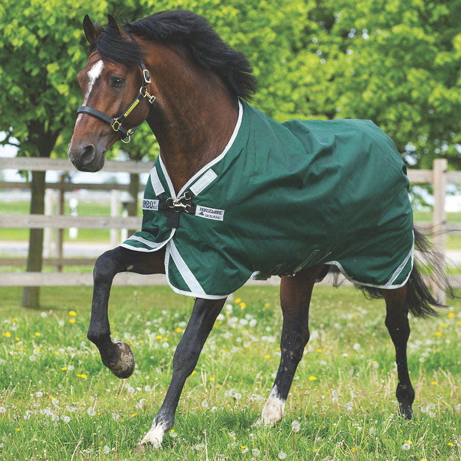 Horseware Rambo Original with Leg Arches Lite Turnout Sheet Green with Silver
