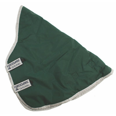 Horseware Rambo Original with Leg Arches Turnout Blanket Attachable 0g Lite Hood Green with Silver