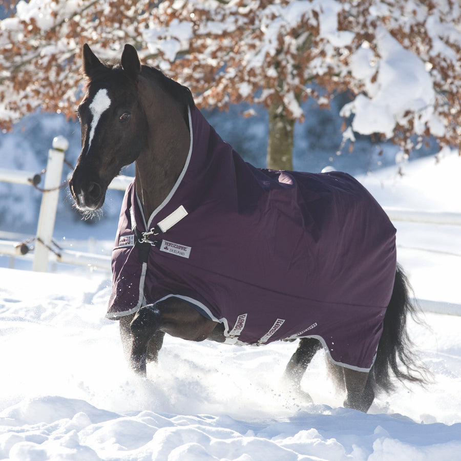 Horseware Rambo Wug Heavy Turnout Blanket Purple with Silver
