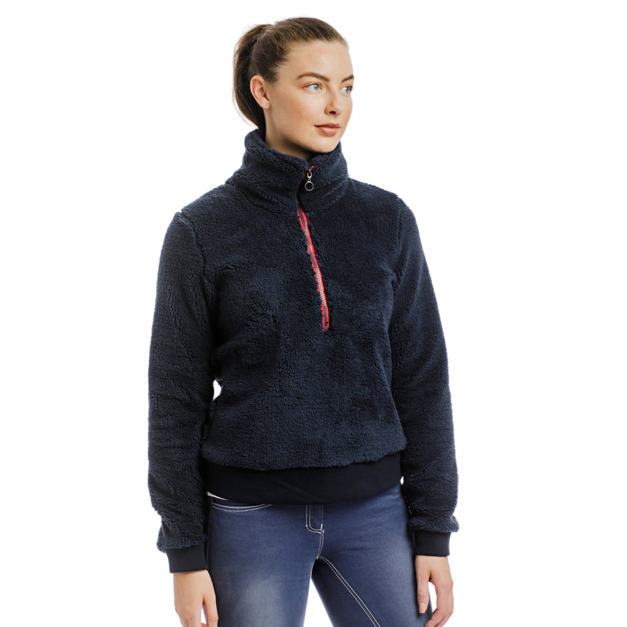 Horseware Women's Chiara Fleece Quarter Zip Sweater Navy
