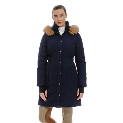 Horseware Women's Fifi Quilted Long Jacket French Navy
