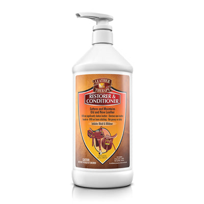 Leather Thearpy Restorer and Conditioner 32 oz with Pump