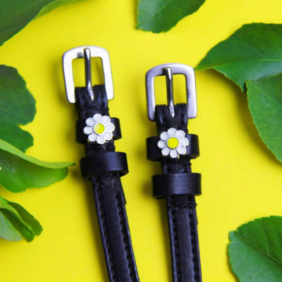 ManeJane Spur Straps with Daisy Flower Charm