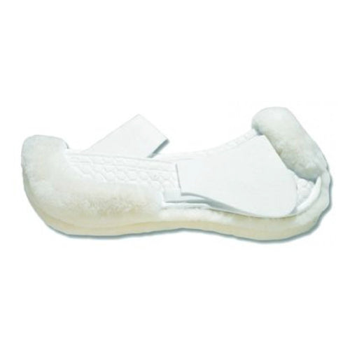 Mattes Platinum Sheepskin All Purpose Correction Half Pad with Rear Trim White