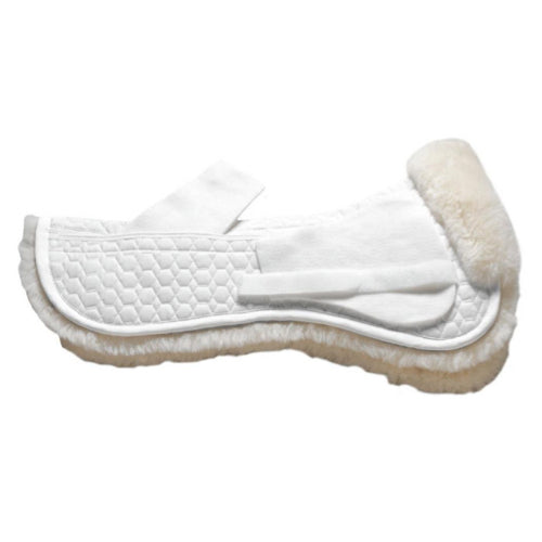 Mattes Platinum Sheepskin Dressage Correction Half Pad without Rear Trim White