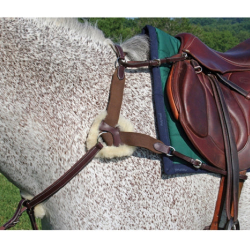 Nunn Finer 5-way Jumper Breastplate with Elastic Havana
