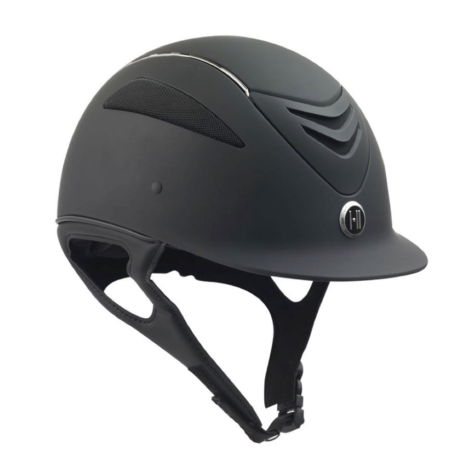 One K Defender Chrome Riding Helmet Black Matte
