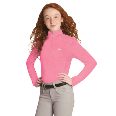 Ovation Girl's SoftFlex Technical Long Sleeve Shirt Pink Melange