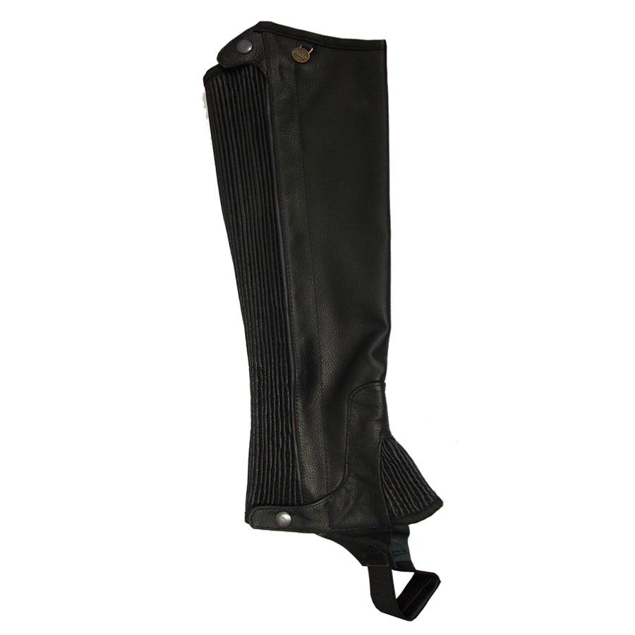 Ovation Pro Top Grain Leather Half Chaps Black