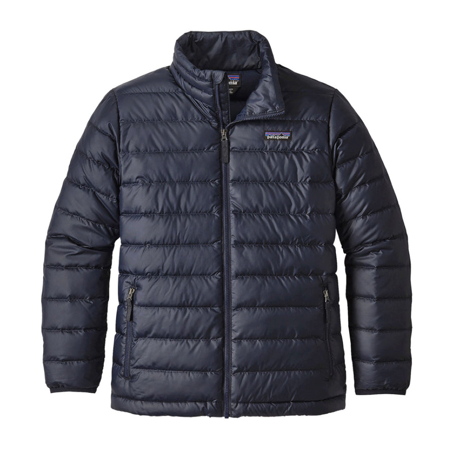 Patagonia Boy's Down Sweater Jacket Navy