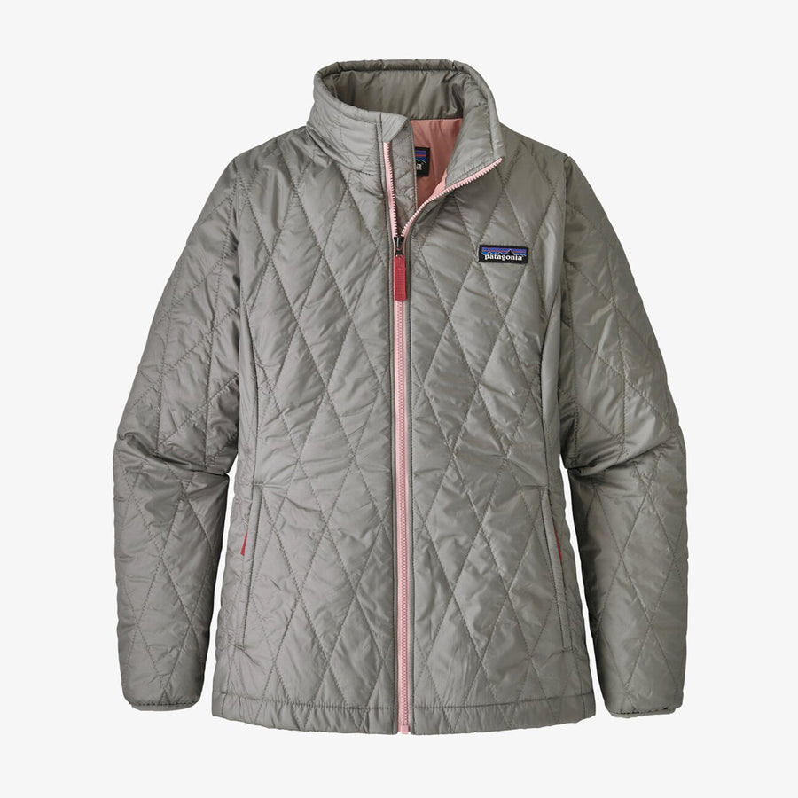 Patagonia Girl's Nano Puff Jacket Drifter Grey