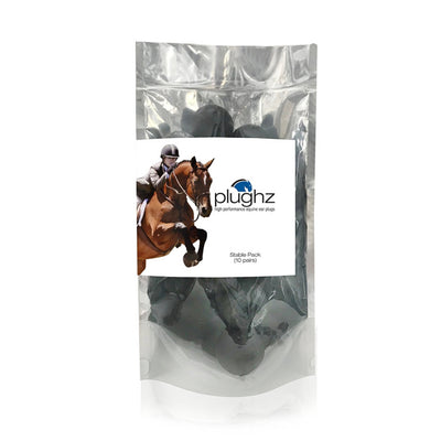 Plughz Horse Ear Plugs 10 Pair Bag