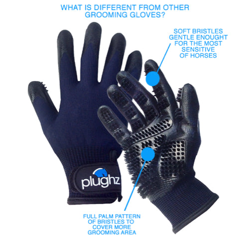 Plughz Horse Grooming Gloves