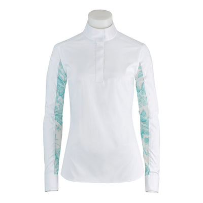 RJ Classics Girl's Lauren Show Shirt White with Aquamarine Floral