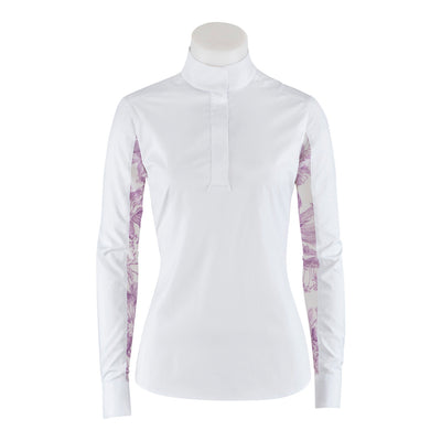 RJ Classics Lauren Show Shirt White with Amethyst Floral