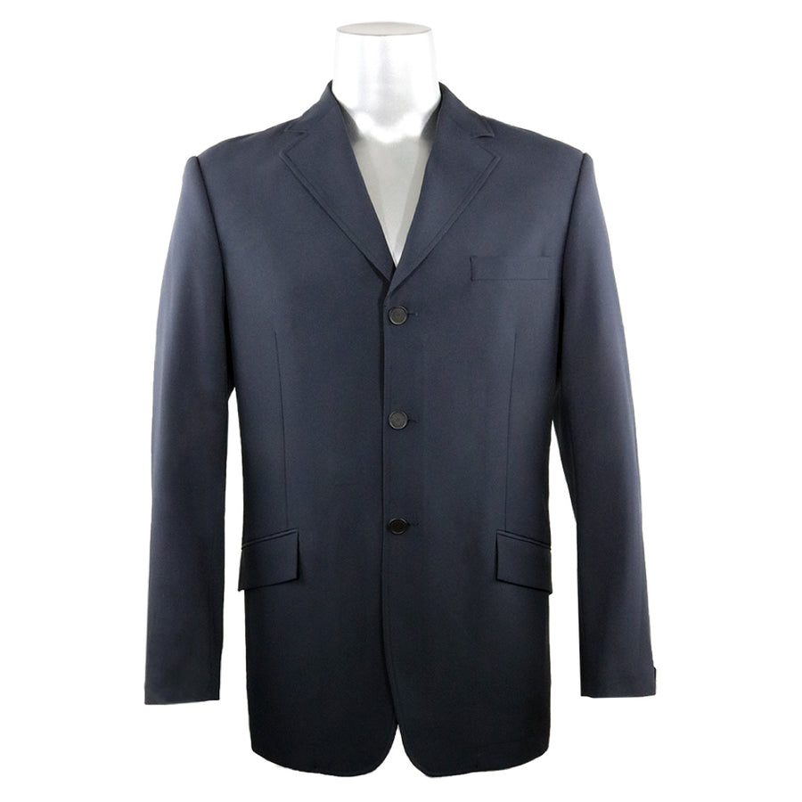 RJ Classics Men's Liam 3-Button Softshell Show Coat Navy