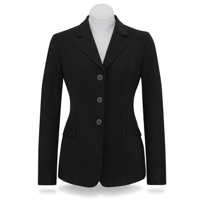 RJ Classics Women's Monterey 3-Button Softshell Show Coat Black