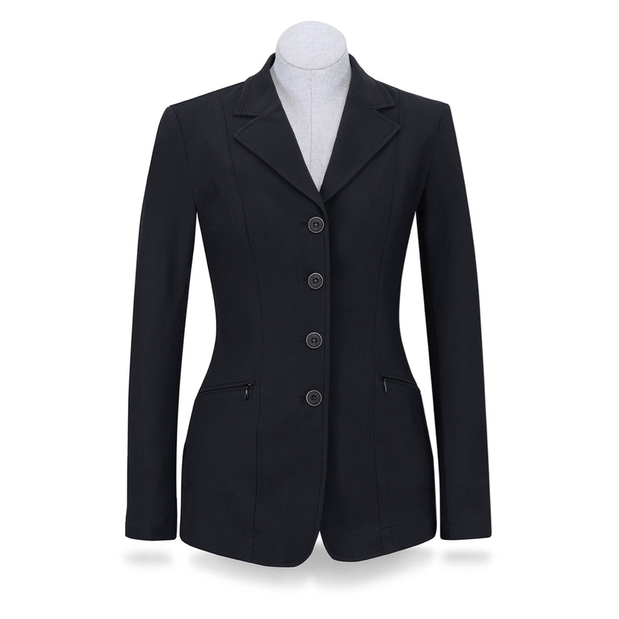 RJ Classics Women's Victory 4-Button Softshell Show Coat Navy