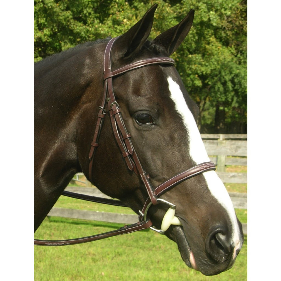 Red Barn Sovereign Raised Fancy Stitched Padded Hunter Bridle