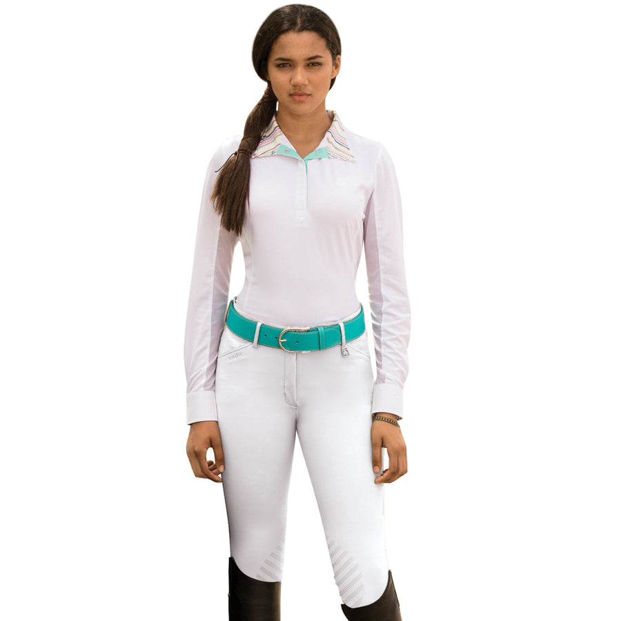 Romfh Women's Sarafina Knee Patch Grip Breech White Sand