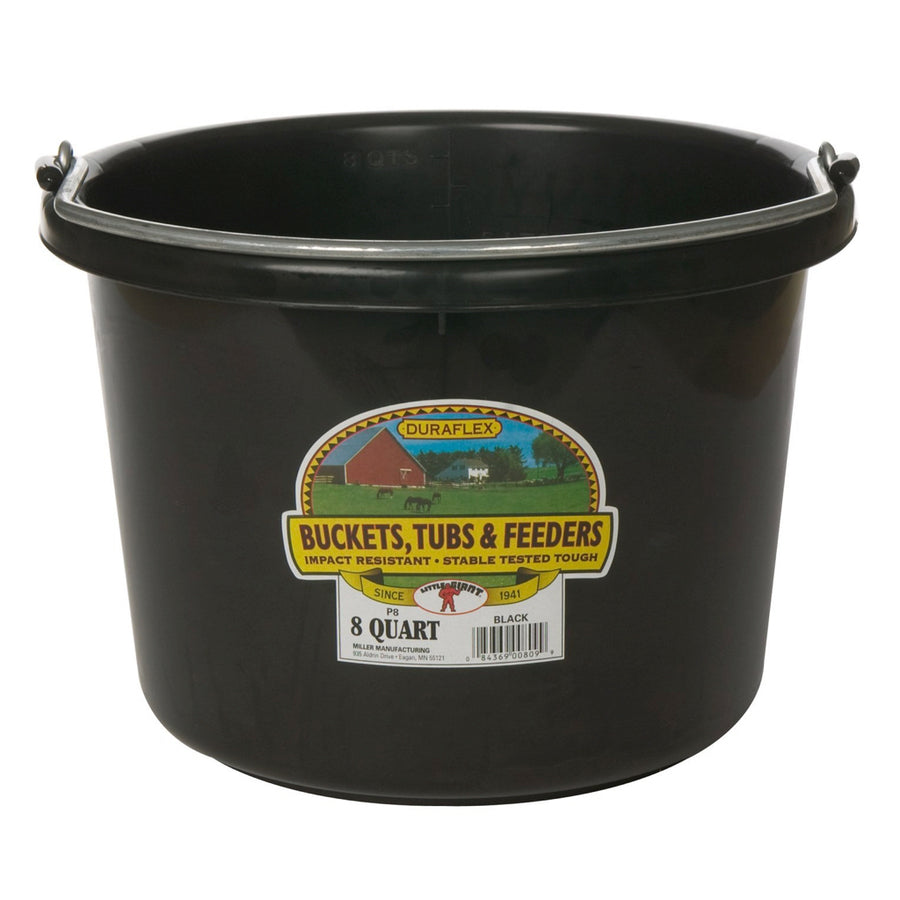 Round Bucket 8-Quart Black