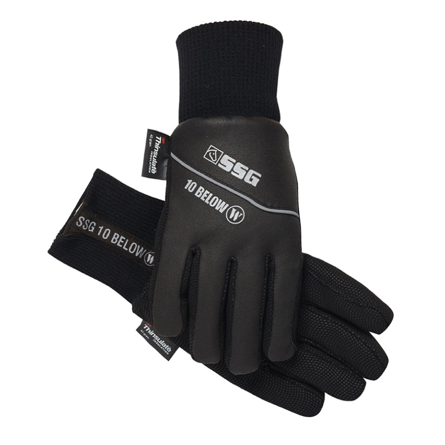 SSG 10 Below Winter Riding Gloves Black