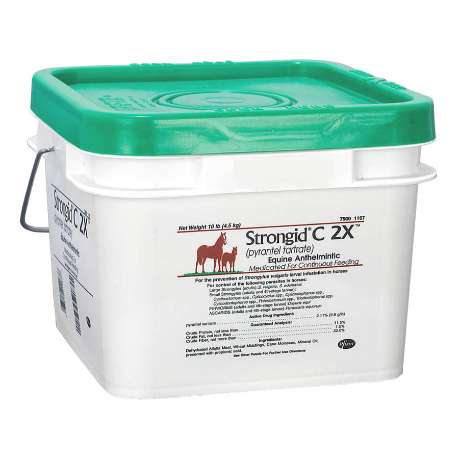 Strongid C 2X Equine Dewormer Supplement 10 lb