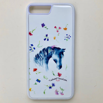 Tack and Tweed iPhone 7+/8+ Case with Horse In Flowers Sublimation
