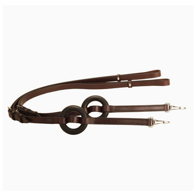 Tory Adjustable Leather Side Reins with Donut Havana