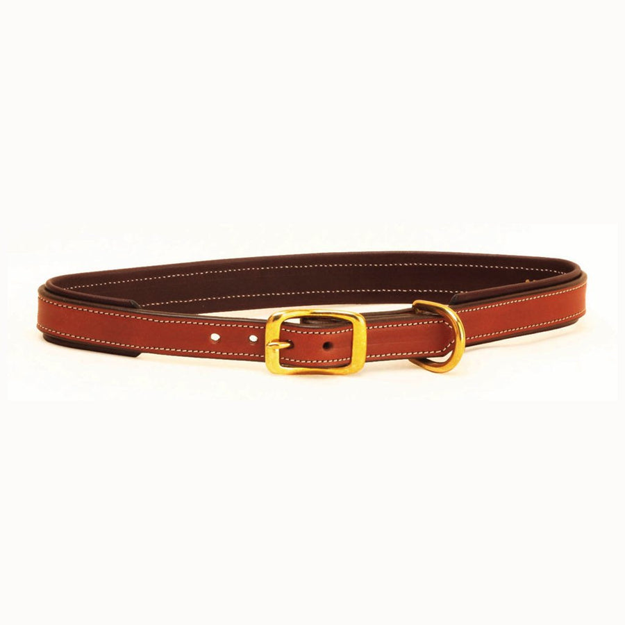 Tory Padded Leather Dog Collar Oakbark with Havana