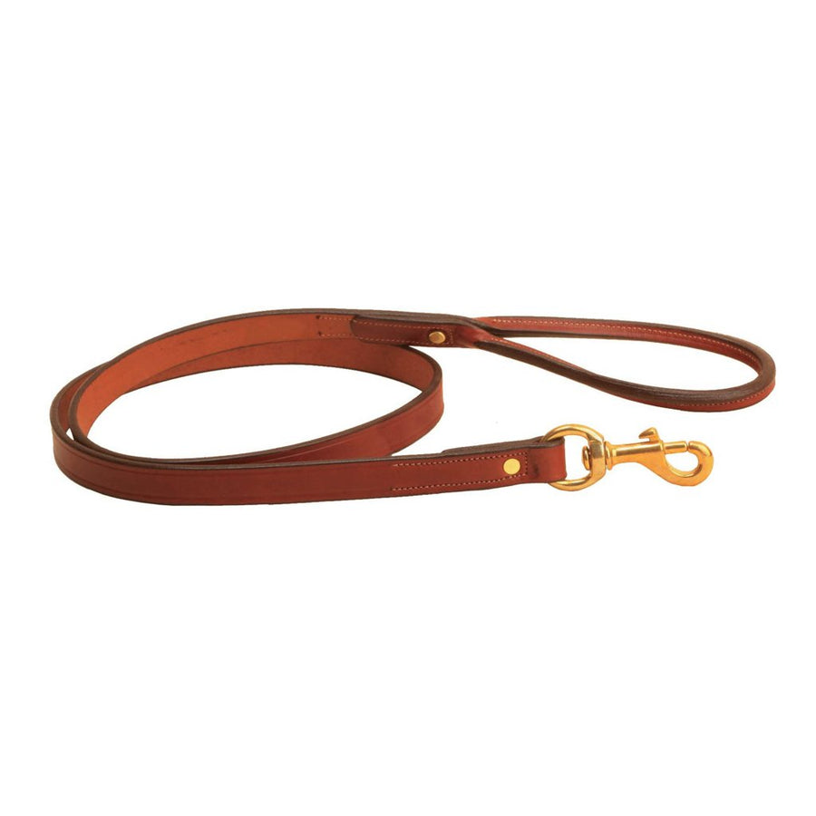 Tory Leather Dog Leash with Rolled Handle Oakbark