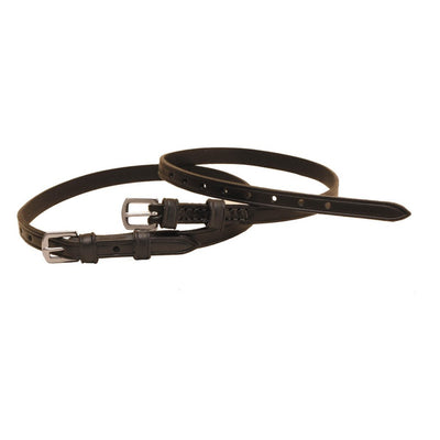 Tory Leather Spur Straps Black
