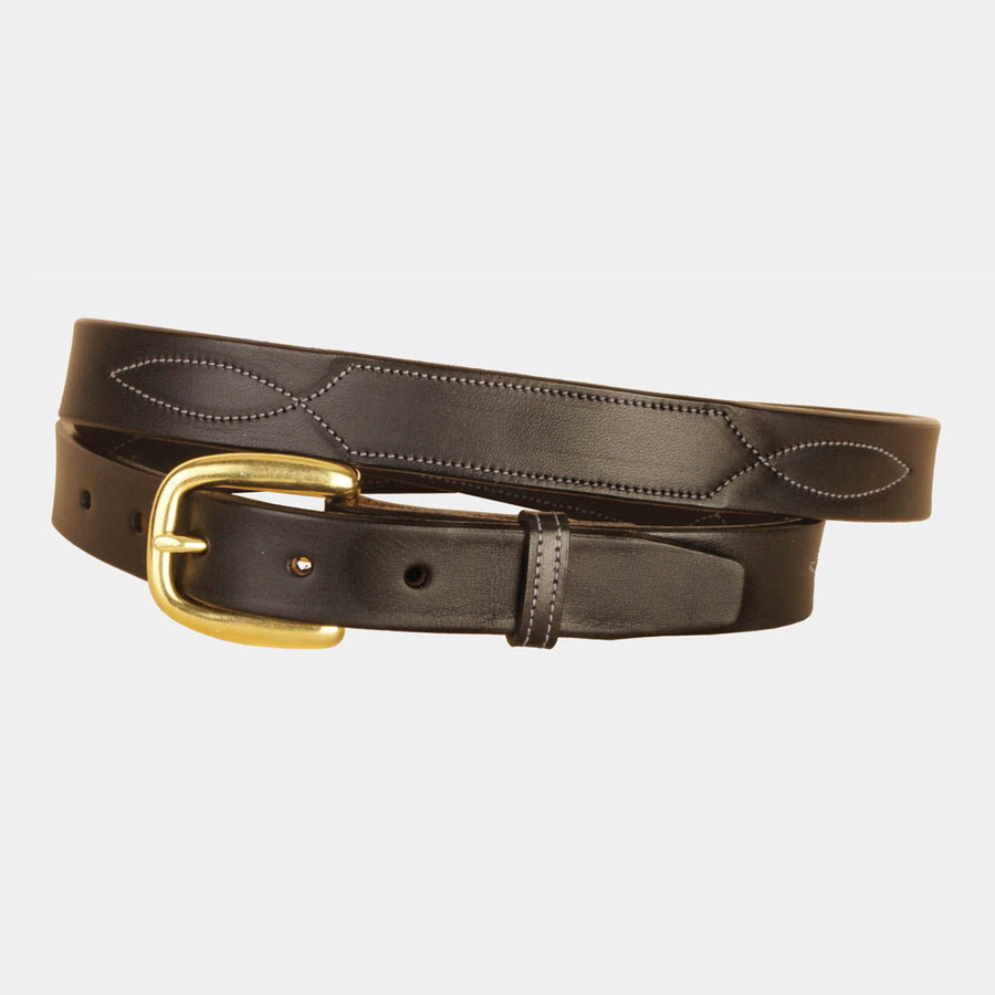 Tory Stitched Nameplate Belt