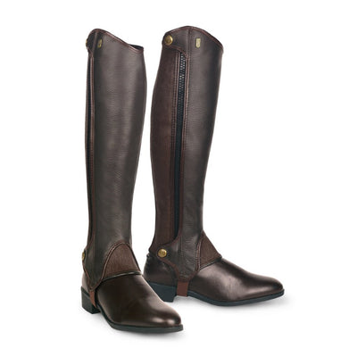 Tredstep Deluxe Leather Half Chap Brown