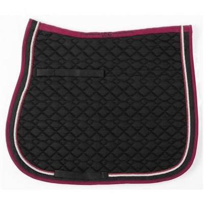 USG All Purpose Quilted Square Pad Black with Burgundy and Silver
