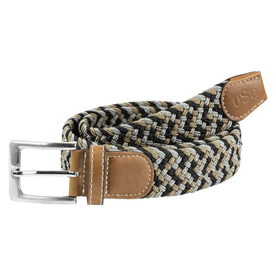 USG Casual Riding Belt Black Grey and Beige