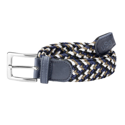 USG Casual Riding Belt Navy Beige and White