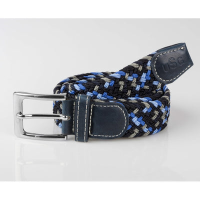 USG Casual Riding Belt Navy Grey and Blue