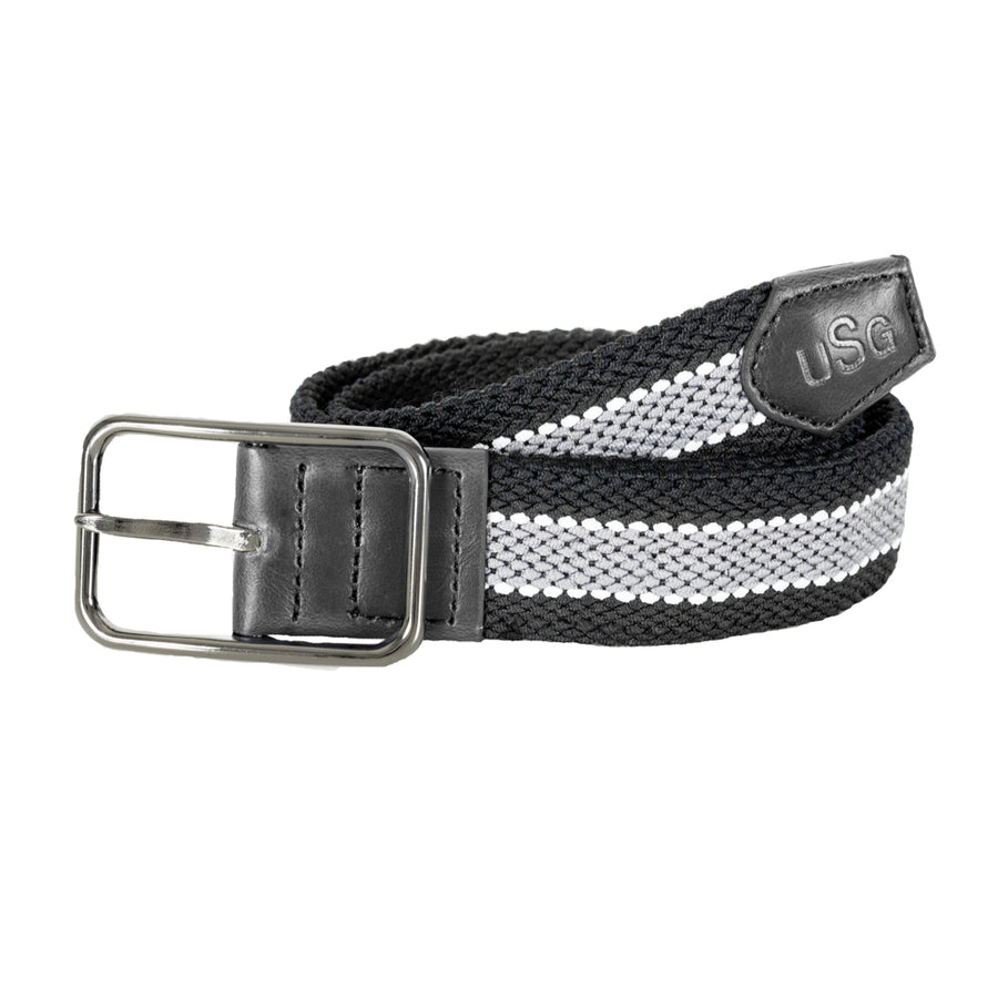 USG Cinto Reversible Riding Belt Black and Grey