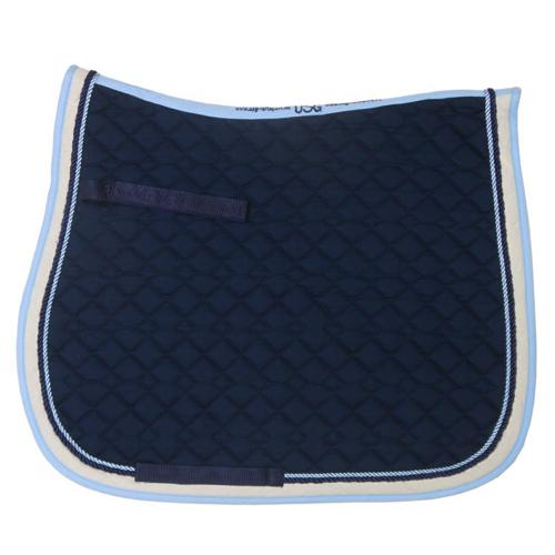 USG Dressage Quilted Square Pad Black with Burgundy and Silver