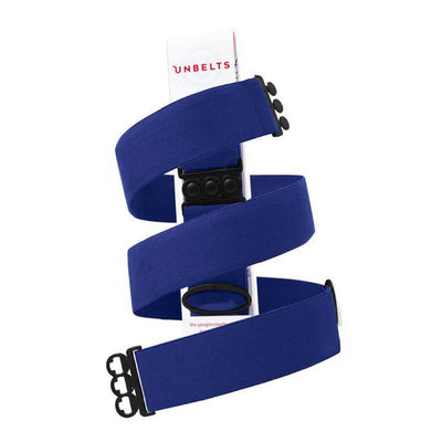 Unbelts Non-Bulky Classic Belt Royal Blue with Black Matte Buckle